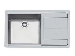 Lavello a una vasca in acciaio inox con gocciolatoioKE 1V.DX(SX)45+SC.S/FT TPR INOX - FOSTER