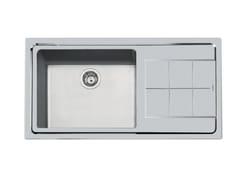 Lavello semi filo top in acciaio inox con gocciolatoioKE 1V50 DX+SC (SX+SC) S/FT TPR - FOSTER