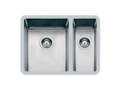 Lavello a una vasca e mezzo sottotop in acciaio inoxKE 2V 18+34/34+18 TPR S/TOP INOX - FOSTER