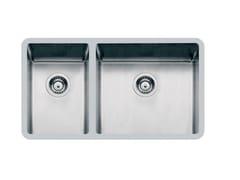 Lavello a una vasca e mezzo sottotop in acciaio inoxKE 2V 27+45 TPR S/TOP - FOSTER