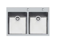 Lavello a 2 vasche da incasso in acciaio inoxKE 2V.34X40 TPR Q4 INOX - FOSTER