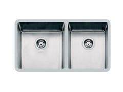 Lavello a 2 vasche sottotop in acciaio inoxKE 2V 40+34 TPR S/TOP - FOSTER