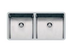 Lavello a 2 vasche sottotop in acciaio inoxKE 2V 40+45 TPR S/TOP - FOSTER