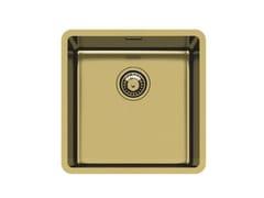 Lavello a una vasca sottotop in acciaio inoxKE 40 VINTAGE GOLD S/T - FOSTER