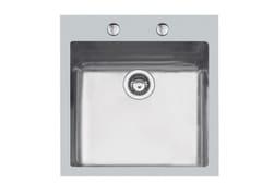 Lavello a una vasca filo top in acciaio inoxKE 45X40  TPR FT BR INOX - FOSTER