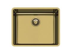 Lavello a una vasca sottotop in acciaio inoxKE 50 VINTAGE GOLD S/T - FOSTER