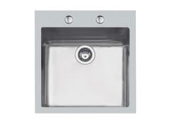 Lavello a una vasca filo top in acciaio inoxKE 50X40 TPR FT BR/INOX - FOSTER