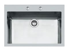 Lavello a una vasca filo top in acciaio inoxKE 71X40 TPR FT BR INOX - FOSTER