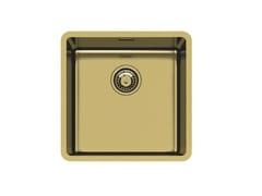 Lavello a una vasca sottotop in acciaio inoxKE R15 40X40 S/TOP GOLD - FOSTER