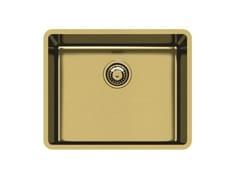 Lavello a una vasca sottotop in acciaio inoxKE R15 50X40 S/TOP GOLD - FOSTER