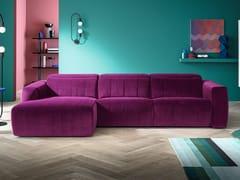 Divano relax in tessuto a 3 posti con chaise longueKENSINGTON | Divano con chaise longue - FELIS