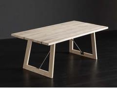 Tavolo da pranzo rettangolare in legno massello KENZO + FLAG/ TIRANTI - ECOLAB 2