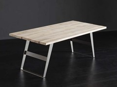 Tavolo da pranzo rettangolare in legno KENZO + IRON - ECOLAB 2
