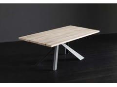 Tavolo da pranzo rettangolare in legno KENZO + METAL - ECOLAB 2