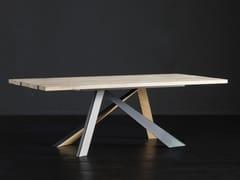 Tavolo da pranzo rettangolare in legno KENZO + METAL/LEGNO - ECOLAB 2