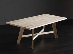 Tavolo da pranzo rettangolare in legno KENZO + PECHINO - ECOLAB 2
