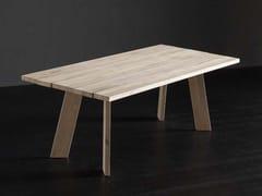 Tavolo da pranzo rettangolare in legno massello KENZO + STREET - ECOLAB 2