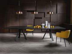 Tavolo da pranzo con base in metalloKI XL - APP DESIGN
