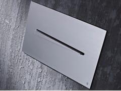 Radomonte, KIKU Placca di comando per wc in acciaio inox