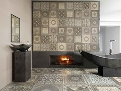 Indoor flooring & Wall tiles with textile effect