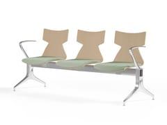Seduta su barra a pavimento in faggio con braccioliKIMBOX WOOD | Seduta su barra con braccioli - KASTEL