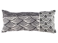 Cuscino rettangolare ricamato a mano in lana KIMONO | Cuscino rettangolare - Cuscini