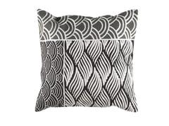 Cuscino quadrato ricamato a mano in lana KIMONO | Cuscino quadrato - Cuscini