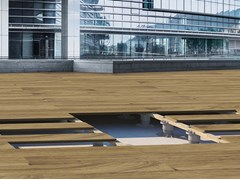 Sistema modulare per pavimento sopraelevato in legno KING®-SLAT WOOD - King®
