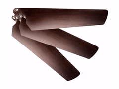 Vortice, KIT PALE 120 CARBONIO WENGE' Kit di pale per ventilatore da soffitto