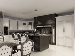 Cucina su misura in legno massello con isola con maniglieLAGO MICHIGAN   Cucina - MARTINI MOBILI