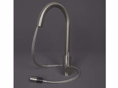 Miscelatore da cucina in acciaio inox con doccetta estraibile 3200021/2 | Miscelatore da cucina con doccetta estraibile - Cucina
