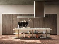 Cucina in frassino e graphic concreto con isolaPINEA | Cucina - TONCELLI