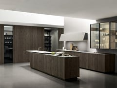 Cucina in rovere con isolaFLOAT   Cucina con isola - MODULNOVA