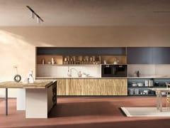 Cucina in ulivo e agglomerato con isolaESSENCE | Cucina con isola - TONCELLI