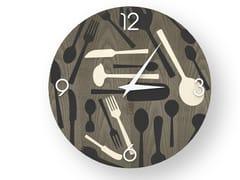 Orologio da parete in legno intarsiato KITCHENTOOLS COLD | Orologio - DOLCEVITA OBJECTS