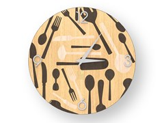 Orologio da parete in legno intarsiato KITCHENTOOLS WARM | Orologio - DOLCEVITA OBJECTS