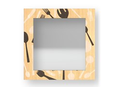 Specchio quadrato da parete con cornice KITCHENTOOLS WARM | Specchio - DOLCEVITA OBJECTS