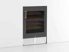 Cantinetta frigo da incasso in acciaio inox con anta in vetro classe AKNTLI01S | Cantinetta frigo - OFFICINE GULLO