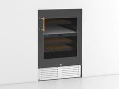 Cantinetta frigo da incasso in acciaio inox con anta in vetro classe AKNTLI02S | Cantinetta frigo - OFFICINE GULLO