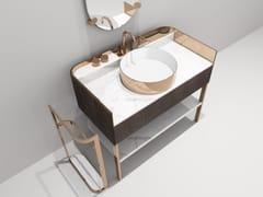 Consolle lavabo singolo in marmo KOBOL | Mobile lavabo singolo - Kobol