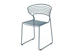 Sedia a slitta impilabile in acciaioKOKI WIRE | Sedia - DESALTO