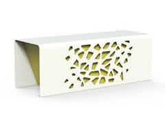 Panchina in acciaio zincato senza schienaleKOMETE | Panchina - DIMCAR