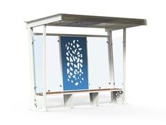Pensilina in acciaio e vetro per fermata autobusKOMETE | Pensilina - DIMCAR