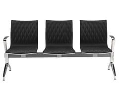 Seduta su barra a pavimento in pelle con braccioliKRUNA PLUS | Seduta su barra - KASTEL