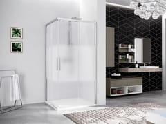 NOVELLINI, KUADRA 2.0 2PH Box doccia angolare con porta scorrevole