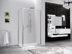 NOVELLINI, KUADRA 2.0 G Box doccia angolare con porta pivotante