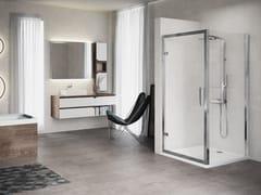 Box doccia angolare con porta a battente KUADRA F - Kuadra