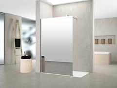 Doccia walk-in in alluminio e vetroKUADRA | H SPY - NOVELLINI