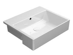 Lavabo a semincasso rettangolare in ceramica con troppopienoKUBE X 55X47 | Lavabo a semincasso - GSI CERAMICA