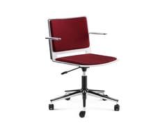 Sedia ufficio in tessuto a 5 razze con braccioliKUBIKA | Sedia ufficio - ARTE & D